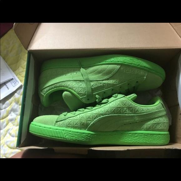 puma shoes green